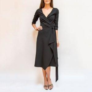 Max Mara Midi Black wrap dress